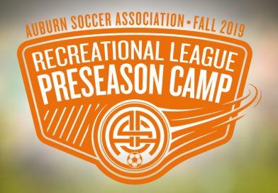 Preseason Soccer Camp, Fall 2019